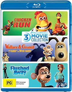 Dreamworks 3 Film Collection (Chicken Run/Wallace & Gromit: The Curse of the Were-Rabbit/Flushed Away)