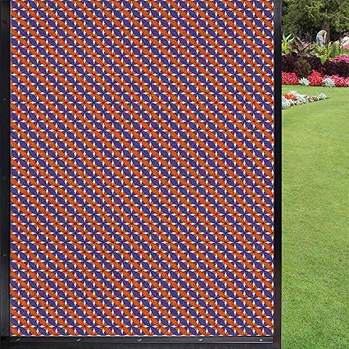 Película adhesiva para ventana, color naranja, azul, para baño, oficina, sala de estar, color violeta y naranja quemado, blanco, 60 x 90 cm