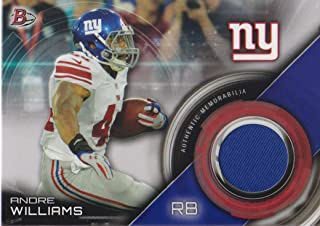 2015 Bowman Football Relics #BR-AW Andre Williams Jersey New York Giants