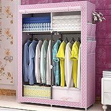HN Wardrobe, Cloth Wardrobe Assembly Cloth Wardrobe Simple Wardrobe Home Storage Cabinet 5 Color Optional (Color : E)