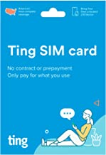 Ting Mobile SIM Card Kit for Unlocked Phones - No Contracts, No Prepayment, LTE Nationwide Coverage, Only Pay for What You...