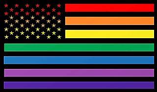 "Rainbow Flag Gay Pride Bumper Sticker - LGBT-Q-IA Stars & Stripes Premium Vinyl Decal 5 x 3"" inch   for Cars Auto-mobiles ..."