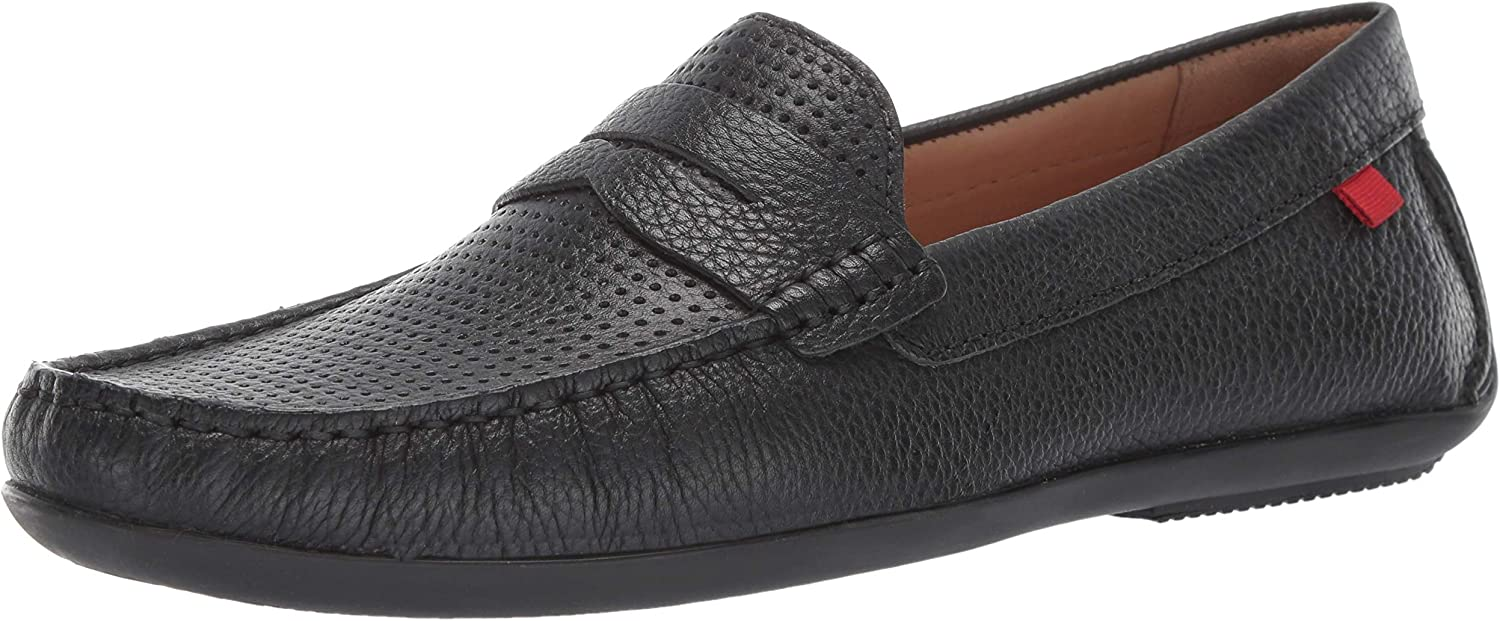 Men's Genuine Leather Made in Brazil Union Street Driver Marc Joseph NY Fashion shoes