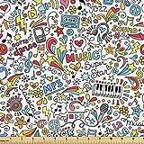Lunarable Groovy Stoff von The Yard, Musik Groovy Doodles