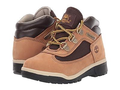Timberland Kids Fabric/Leather Field Boot (Toddler/Little Kid) (Medium Beige Nubuck) Kids Shoes