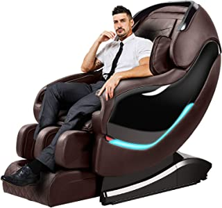 OOTORI Massage Chair Recliner, SL-Track Zero Gravity, Full Body Shiatsu Electric Massage Chair with Tapping Heating Stretching Swedish Massage Back and Foot Massagers (Brown)