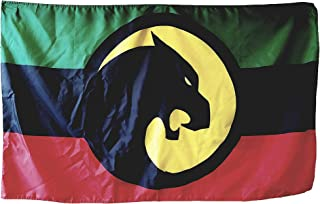 Wakanda Flag 3x5 Foot - Vivid Colors, Sleeve and Metal Grommet - from Black Panther, Avengers, Infinity War, Marvel Movies - Makes for a Great Gift