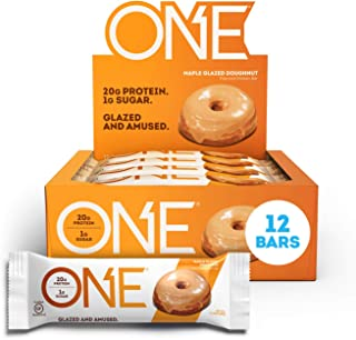 ONE Protein Bars, Maple Glazed Doughnut, Gluten Free Protein Bars with 20g Protein and only 1g Sugar, Guilt-Free Snacking ...