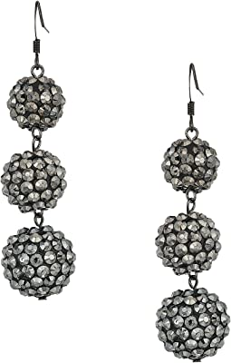 3 Ball Drop Fishhook Earrings