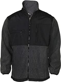 Men's Fleece Zip Up Mock Jacket