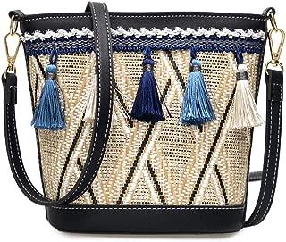 chinatera Straw Crossbody Mini Handbags Women Straw Purse Bag Wallet Summer Beach Bag