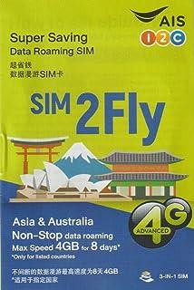 [A.I.S] SIM2Fly 4GB 8日間 17カ国データ通信SIMカード 日本 韓国 台湾 香港 シンガポール マカオ マレーシア フィリピン インド カンボジア ラオス ミャンマー オーストラリア ネパール インドネシア スリランカ カ...