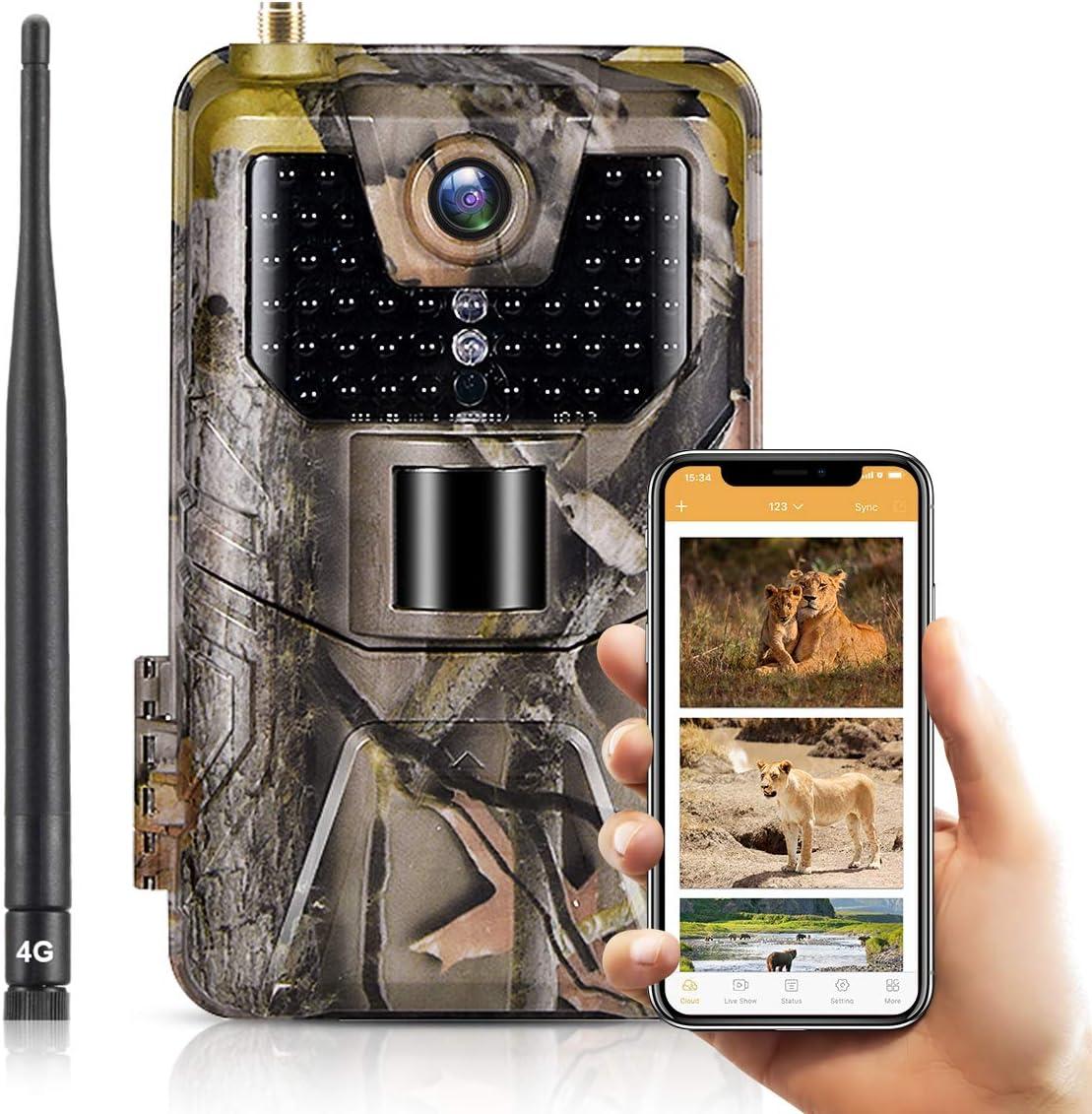 SUNTEKCAM LTE 4G 誕生日プレゼント Cellular Trail Cameras Ca HP 輸入 1080 20MP Wireless