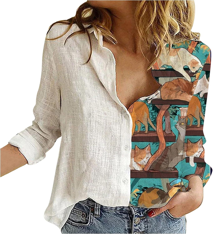 UOCUFY Women Tops Long Sleeve, Womens Long Sleeve Sweatshirts Casual Cute Graphic Crewneck Pullover Tunic Tops Shirt