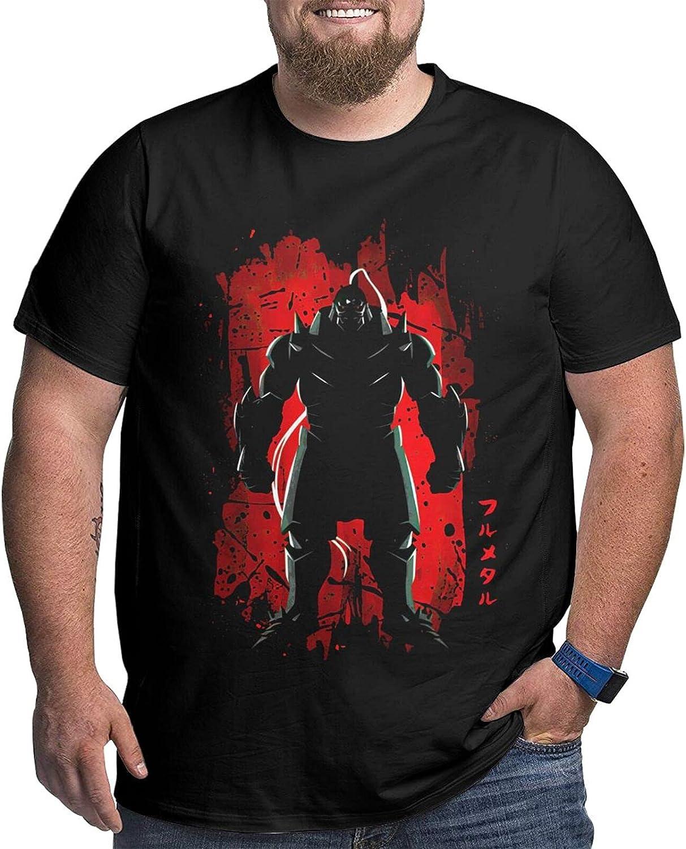 Fullmetal Alchemist Alphonse Men's Shirt Casual Short Sleeve Plus Size Cotton Tee