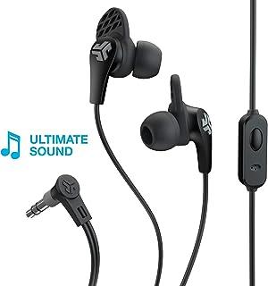 JLab Audio JBuds Pro Signature Earbuds | Titanium 10mm Drivers | Music Controls, Universal Mic | Custom Fit with Cush Fins | Black