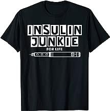 Insulin Junkie For Life Type 1 Diabetes Awareness T-Shirt