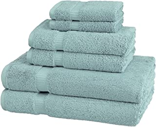 Pinzon Organic Cotton Towels 6 Piece Set, 100% Cotton, Spa Blue, 6 - Piece Set