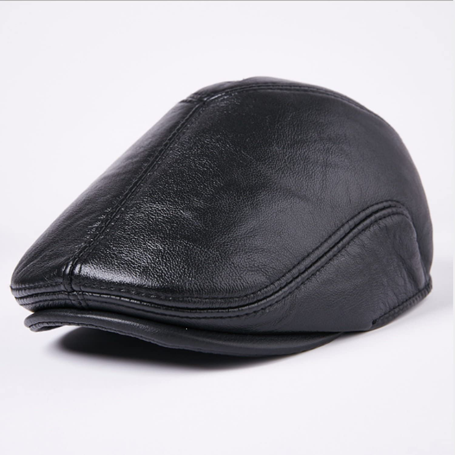 Hat leather First layer cowhide cap duc Male Clearance SALE! Limited time! free Fashion