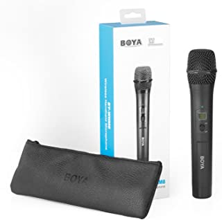 Interview Handheld Wireless Microphone Camera, BOYA BY-WHM8 48-Channel UHF Dynamic Handheld Cardioid Mic Transmitter for BY-WM6, BY-WM8 Microphone System for Interview Presentation Talk Show Speech