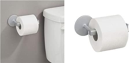 iDesign Metro Rustproof Self-Adhesive Toilet Paper Holder, Silver, 22130ES
