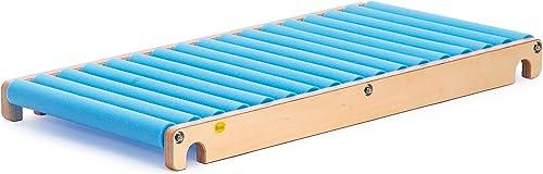 Erzi Rollenrutsche S, Trainingsrutsche, aus Holz   Schaumstoff, Ma 115 x 58 x 10,5cm, Natur-blau