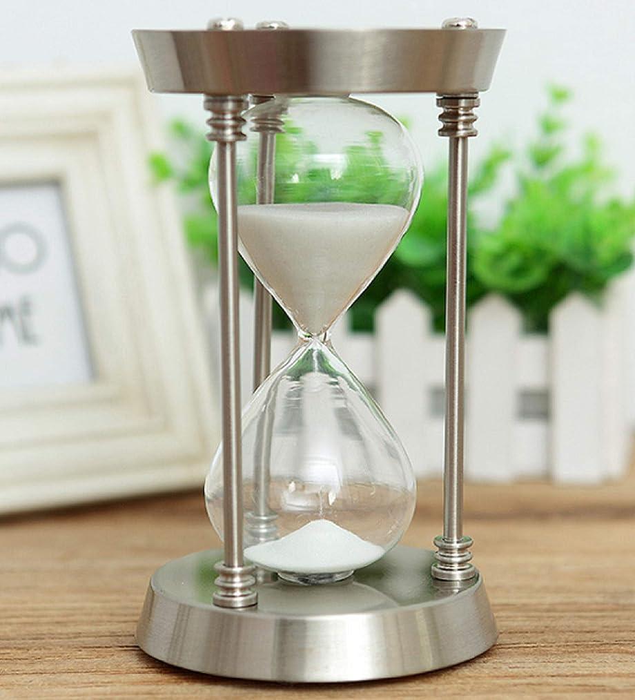 にもかかわらず名前を作る九月アンティーク風砂時計 シルバー 白砂 15分 オフィス、店舗、おうちのリビング インテリアとして 贈り物としても です