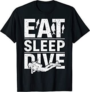 Best eat sleep dive repeat t shirt Reviews