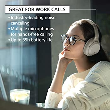Sony Noise Cancelling Headphones WH1000XM3: Wireless Bluetooth Over the Ear Headset with Mic for phone-call and Alexa...