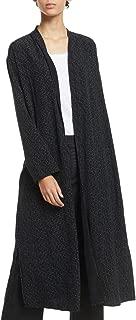 Eileen Fisher Womens Petites Kimono Printed Split Hem Jacket