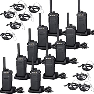 Retevis RB26 Walkie Talkies for Adult Long Range, 30CH GMRS Base Station Channels,2000mAh Rechargeable Battery 2 Way Radio, Wireless Copy,Two Way Radio with Earpiece(10 Pack)