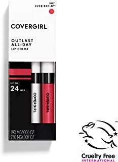 COVERGIRL Outlast All-Day Moisturizing Lip Color, Ever Red-dy .13 Ounce (4.2 Gram), Pack of 2