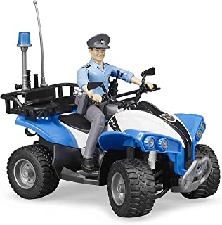 Bruder Police-Quad With Policeman and Accessories, Blue/Black, 93 x 160 x 93 mm,63010