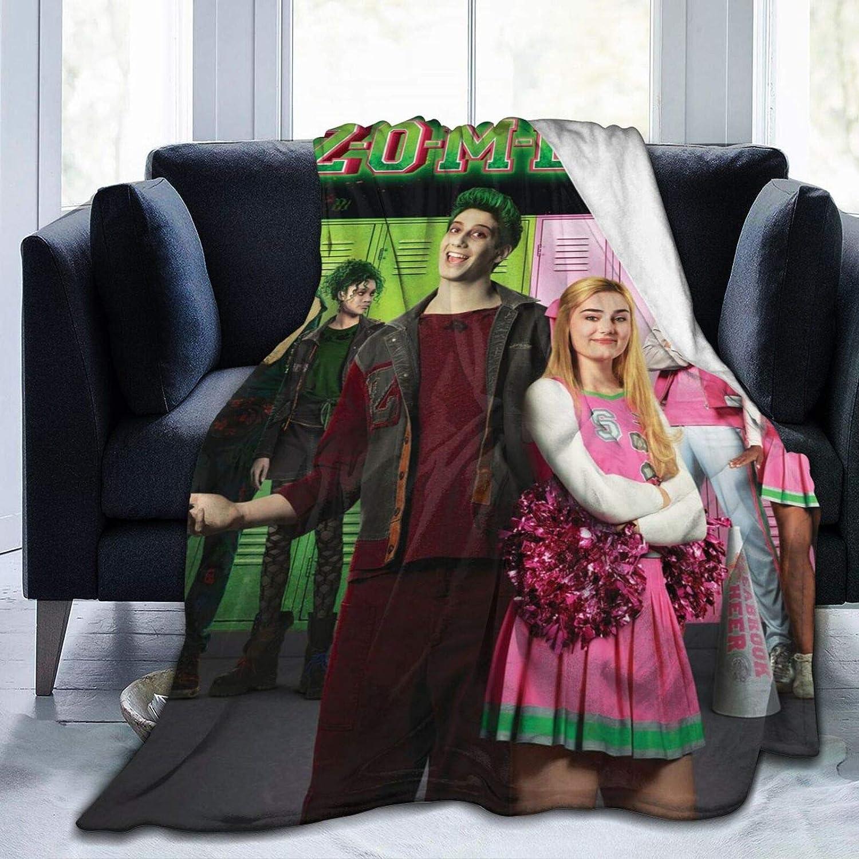 Nedrodapphire Z-Om-Bi-ES 2 Ultra-Soft Micro Fleece Blanket Throw Blanket Fit Couch Bed Sofa All Season Light Weight Living Room/Bedroom Warm Throw Blanket,Black,50