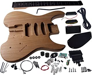 Solo SB Style DIY Guitar Kit, Ash Body, Headless Maple Neck