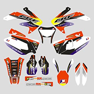 JFG RACING Customize Motorcycle Complete Adhesive Decals Stickers Graphics Kit For For Honda CRF450X 08-16