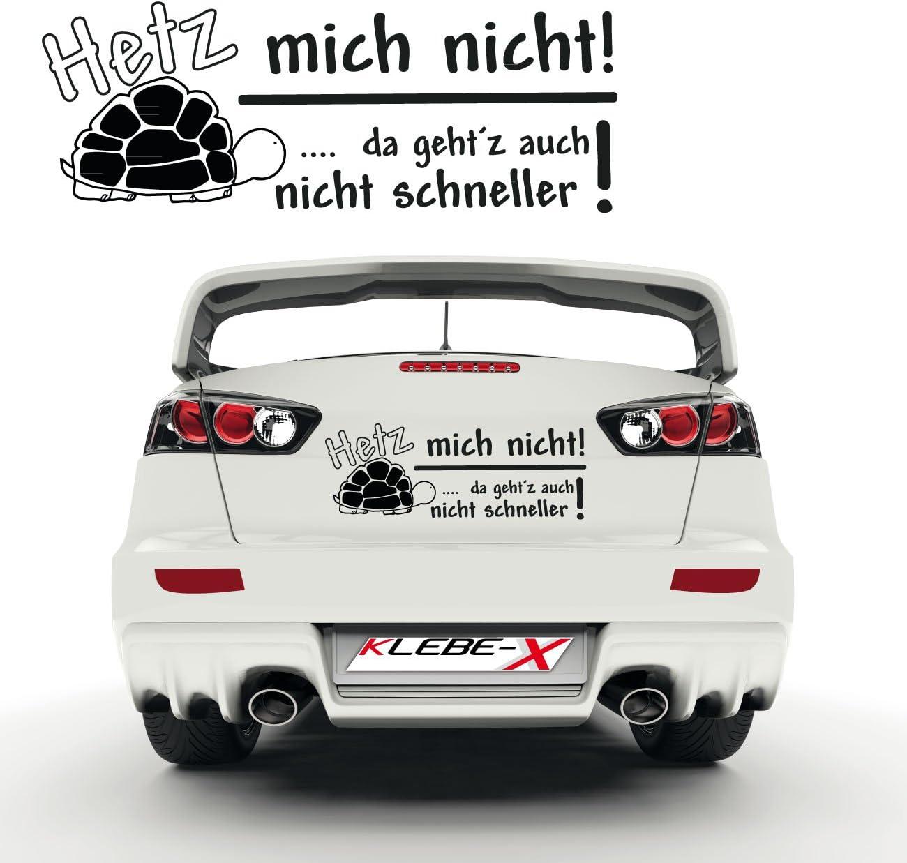 Klebe X Hetz Mich Nicht Auto Schildkröte Autoaufkleber Für Die Heckscheibe Ee003 Auto