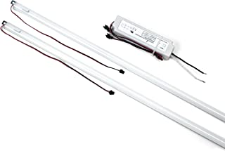 Hyperikon Magnetic Mount 4 Foot LED Tube, 240 Watt Replacement (36W), Panel Light Retrofit Kit, 5000K, 1 Driver 2 Tubes Per Kit, UL, DLC