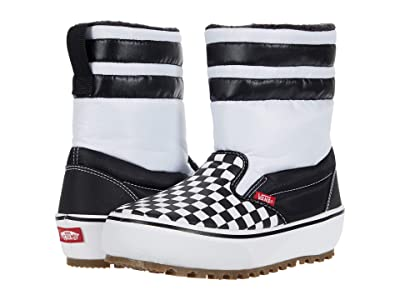 Vans Kids Slip-On Snow Boots MTE (Little Kid/Big Kid) (Checkerboard) Kids Shoes