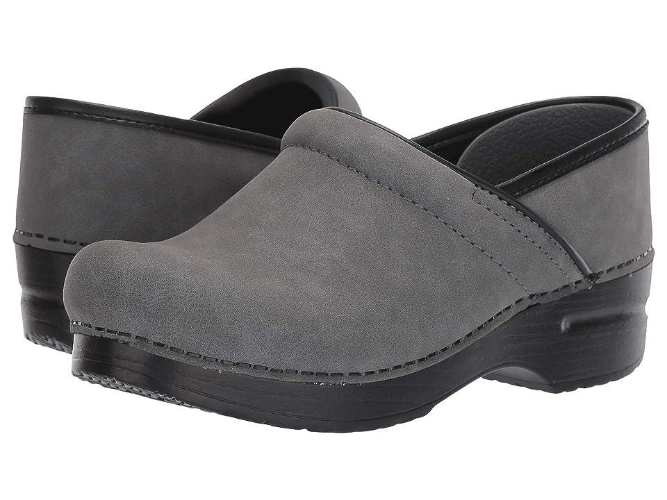 Dansko Professional (Grey Microbuck) Women's Clog/Mule Shoes, Gray