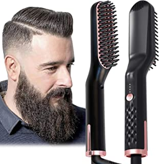 Johnbo AU Plug Hair Straightening Brush, Beard Straightener Brush, 3-in-1 Ionic Straightening Comb, 1 count