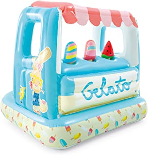 Intex Ice Cream Stand Inflatable Playhouse and Pool, for Ages 2-6, Multi, Model Number: 48672EP