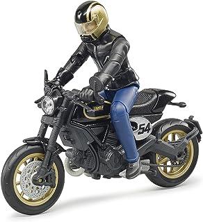 <h2>bruder 63050 Moto Avec Motard Fahrzeug Scrambler Ducati Cafe Racer mit Fahrer, Schwarz</h2>