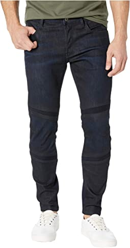 Motac Sec 3D Slim in Visor Stretch Denim Dark Aged