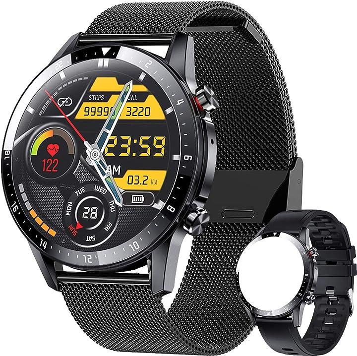 Smartwatch, orologio fitness cardiofrequnzimetro da polso contapassi e impermeabile android ios ieverda B08SW2QKDV