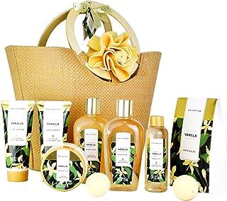 Spa Luxetique Coffret Cadeau pour les Femmes, 10 PC Coffret de Bain, Parfum de Vanille, Crème pour les Mains, Cadeau d'Ann...