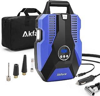 Akface Compresor de Aire Coche,Inflador Coches Portatil,Inflador Neumaticos Hasta 150 PSI,Compresores 12v para Bicicleta d...