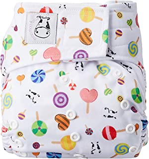 MOO MOO KOW Cloth Diapers Adjustable Washable 1 Cover 2 Inserts (APLIX)