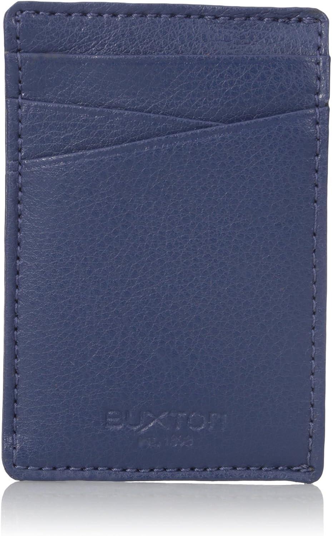 Buxton Men's Addison RFID Blocking Leather Front Pocket Money Clip Wallet