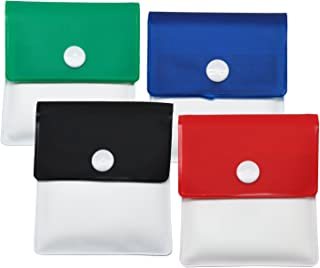 Meta-U Pocket Ashtray Pouch- Fireproof PVC-Odor Free-Portable Compact- Assorted Color- Pack of 4